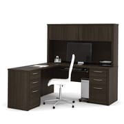 "Bestar Embassy 66"" L-Shaped Desk, Dark Chocolate (60853-79)"