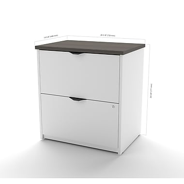 Bestar Innova Lateral File, White and Antigua (92630-52)