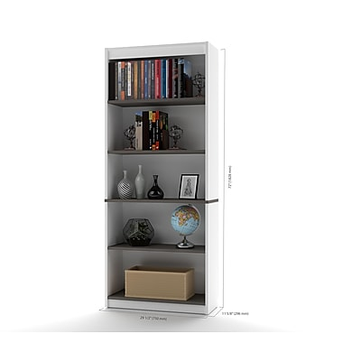 Bestar Innova Bookcase, White and Antigua (92700-52)