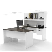 Bestar Innova U-Shaped Workstation, White and Antigua (92850-52)