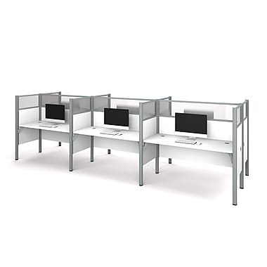 Bestar Pro-Biz Six Workstation, White (100873D-17)