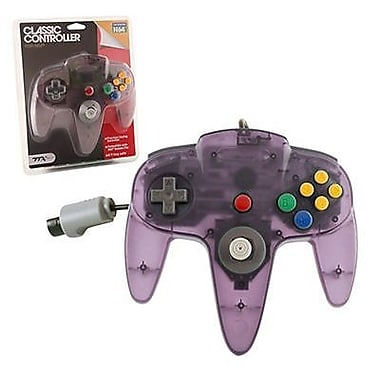TTX Tech Nintendo64 Controller, Clear Purple