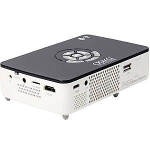 AAXA Technologies P450 Pro WXGA DLP Pico Pocket Projector, White/Gray IM14X1824