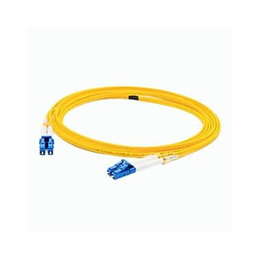 AddOn® 1.6' OS1 Single-Mode Fiber Duplex LC Male/Male Patch Cable, Yellow