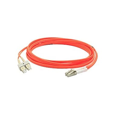 AddOn® 16.4' OM1 Multi-Mode Fiber Duplex LC Male/Male Patch Cable, Orange