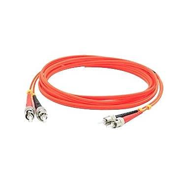AddOn® 3.3' OM1 Multi-Mode Fiber Duplex ST Male/Male Patch Cable, Orange