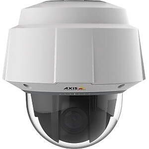 AXIS® Q6054-E Wired PTZ Dome Outdoor Network Camera, Night Vision, White