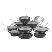 Cuisinart® Chef's Classic Nonstick Anodized Aluminum 17-Piece Cookware Set, Black (66-17N)
