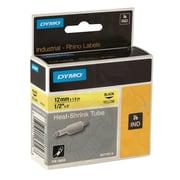 "Dymo® Rhino 18056 1/2"" Heat Shrink Tube Label Tape, Yellow"