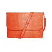 Fabrique Lenox Lizard Orange Faux Leather/Microsuede Tablet Sleeve Case (FFS11ORLIZARDENVSS)