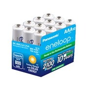 Panasonic® AAA Nickel Metal Hydride Rechargeable Battery, 800 mAh, 12/Pack (BK-4MCCA12BA)