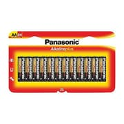 Panasonic® Plus AA Alkaline General Purpose Battery, 24/Pack (LR6PA)