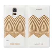 Samsung Polyurethane Leather Wallet Cover for Galaxy S5, White (EF-WG900RLESTA)