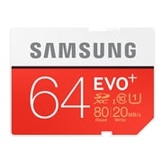 Samsung MB-SC64D/AM Evo Plus Class 10/UHS-I (U1) 64GB SDXC Flash Memory Card