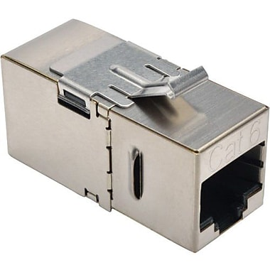 Tripp Lite® N235-001-SH-D Cat6 Straight-Through Modular Shielded In-Line Snap-In Coupler w/90-Degree Down-Angled Port