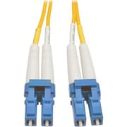 Tripp Lite® N370 100' Single-Mode Fiber Duplex LC Male/Male Patch Cable, Yellow