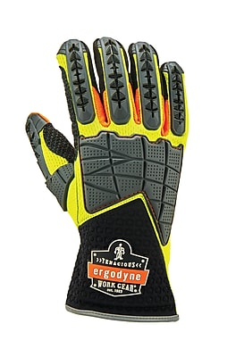 Proflex 925F(x) Standard Dorsal Impact-Reducing Gloves, Lime, M (17903)
