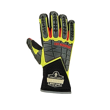Proflex 925CR Performance Dorsal Impact Reducing Gloves + Cut Resistance, Lime, 2XL (18006)
