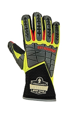 Proflex 925CR Performance Dorsal Impact Reducing Gloves + Cut Resistance, Lime, S (18002)