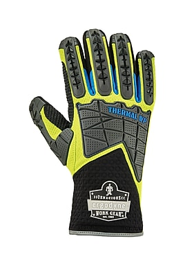 Proflex 925WP Performance Dorsal Impact Reducing Gloves + Thermal WP, Lime, XL (18105)