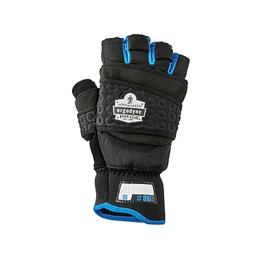 Proflex 816 Thermal Flip-Top Gloves, Black, L (17344)