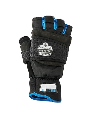 Proflex 816 Thermal Flip-Top Gloves, Black, XL (17345)