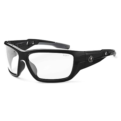 Skullerz BALDR Safety Glasses, Clear Lens, Black (57000)