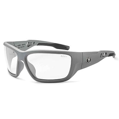 Skullerz BALDR Safety Glasses, Clear Lens, Matte Gray (57100)