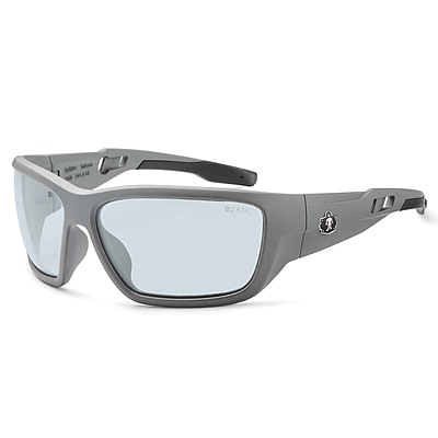 Skullerz BALDR Safety Glasses, In/Outdoor Lens, Matte Gray (57180)