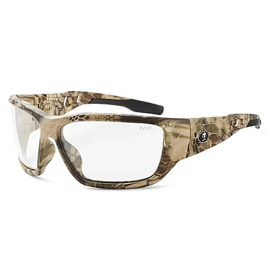 Skullerz BALDR-AFHI Safety Glasses, Anti-Fog Clear Lens, Kryptek Highlander (57303)