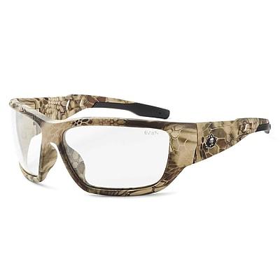 Skullerz BALDR-AFHI Safety Glasses, Anti-Fog Clear Lens, Kryptek Highlander (57303)