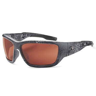 Skullerz BALDR-PZTY Safety Glasses, Polarized Copper Lens, Kryptek Typhon (57521)