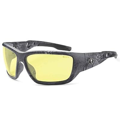 Skullerz BALDR-TY Safety Glasses, Yellow Lens, Kryptek Typhon (57550)