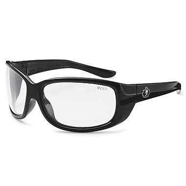 Skullerz ERDA-AF Safety Glasses, Anti-Fog Clear Lens, Black (58003)