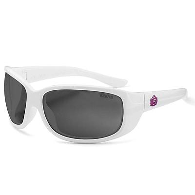 Skullerz ERDA-PZ Safety Glasses, Polarized Smoke Lens, White (58231)