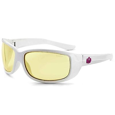 Skullerz ERDA Safety Glasses, Yellow Lens, White (58250)