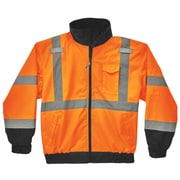GLoWEAR 8379 Type R Class 3 Fleece Lined Bomber Jacket, L, Orange (24464)