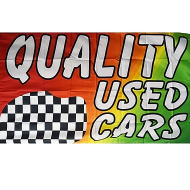 NeoPlex Quality Used Cars Business Traditional Flag