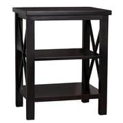 Porthos Home Luca 22'' Accent Shelves Bookcase; Black