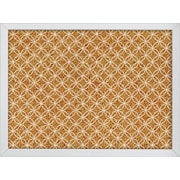 WallPops Tambour Printed Cork Board 17 x 23.5 x 1 White & Off-White (HB2165)