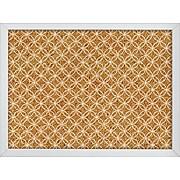 WallPops Tambour Printed Cork Board 17 x 23.5 x 1 White & Off-White (HB2165)