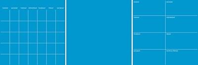 WallPops Neon Pacific Blue 6 Pc Combo Set 39 x 26 Blue (TWPE2052)