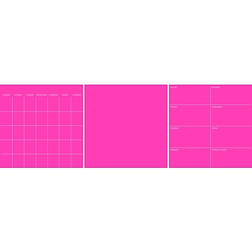 WallPops Neon Flamingo Pink 6 Pc Combo Set 39 x 26 Pink (TWPE2053)