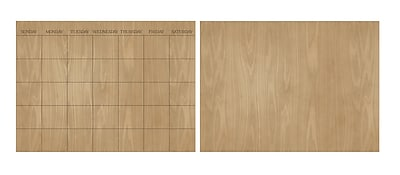 WallPops Hardwood Message Board and Calendar Decal Set 24 x 35 Neutral (WP2193)