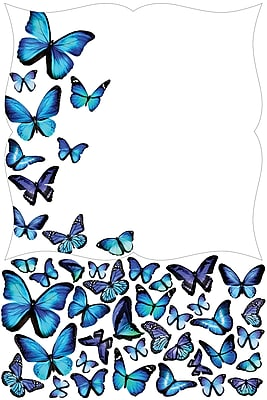 WallPops Papillion Giant Dry Erase Decal 39 x 26 Blue (WPE1889)