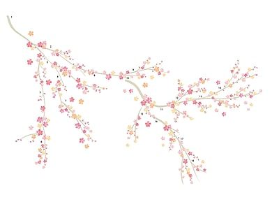 WallPops Spring Wall Art Kit 39 x 34.5 Pink (WPK2129)