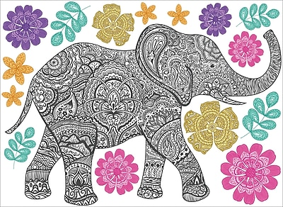 WallPops Mehndi Wall Art Kit 24 x 17.5 Multi-Color (WPK2132)