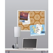WallPops Catalina Printed Cork Board 17 x 23.5 x 1 White & Off-White (HB0689)