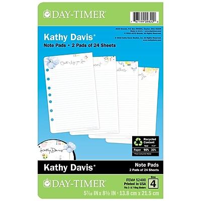Day-Timer® Kathy Davis Notepad Refill, 5-1/2 x 8-1/2 (52400)