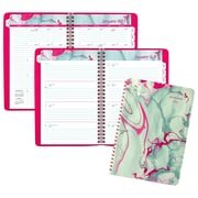 "2017 AT-A-GLANCE® Paper Marbling Weekly/Monthly Planner, 13 Months, 5 1/2"" x 8 1/2"", Green/Pink (588-200-17)"